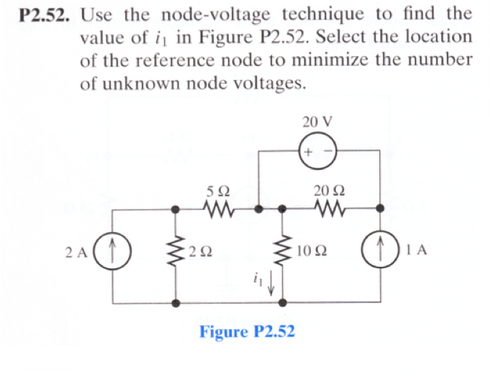 Use the node-voltage technique to find the value o