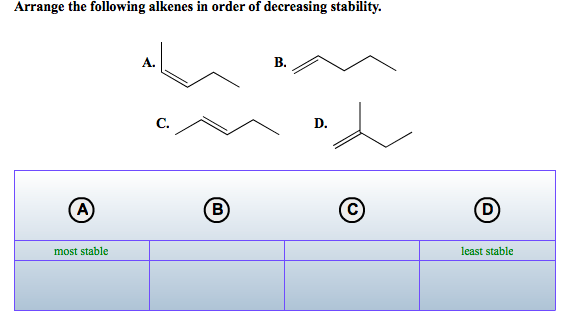 Arrange the following radical in order of decreasing stability
