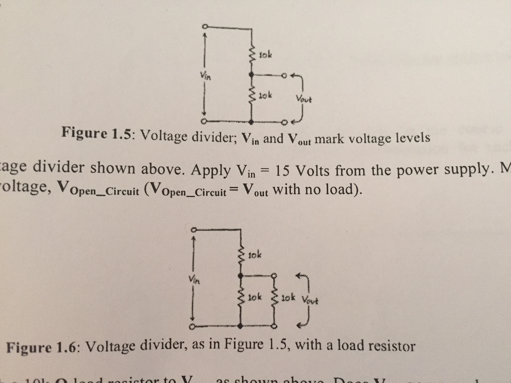 lok lok Vout Figure 1.5: Voltage divider; vin and vout ark voltage levels  age