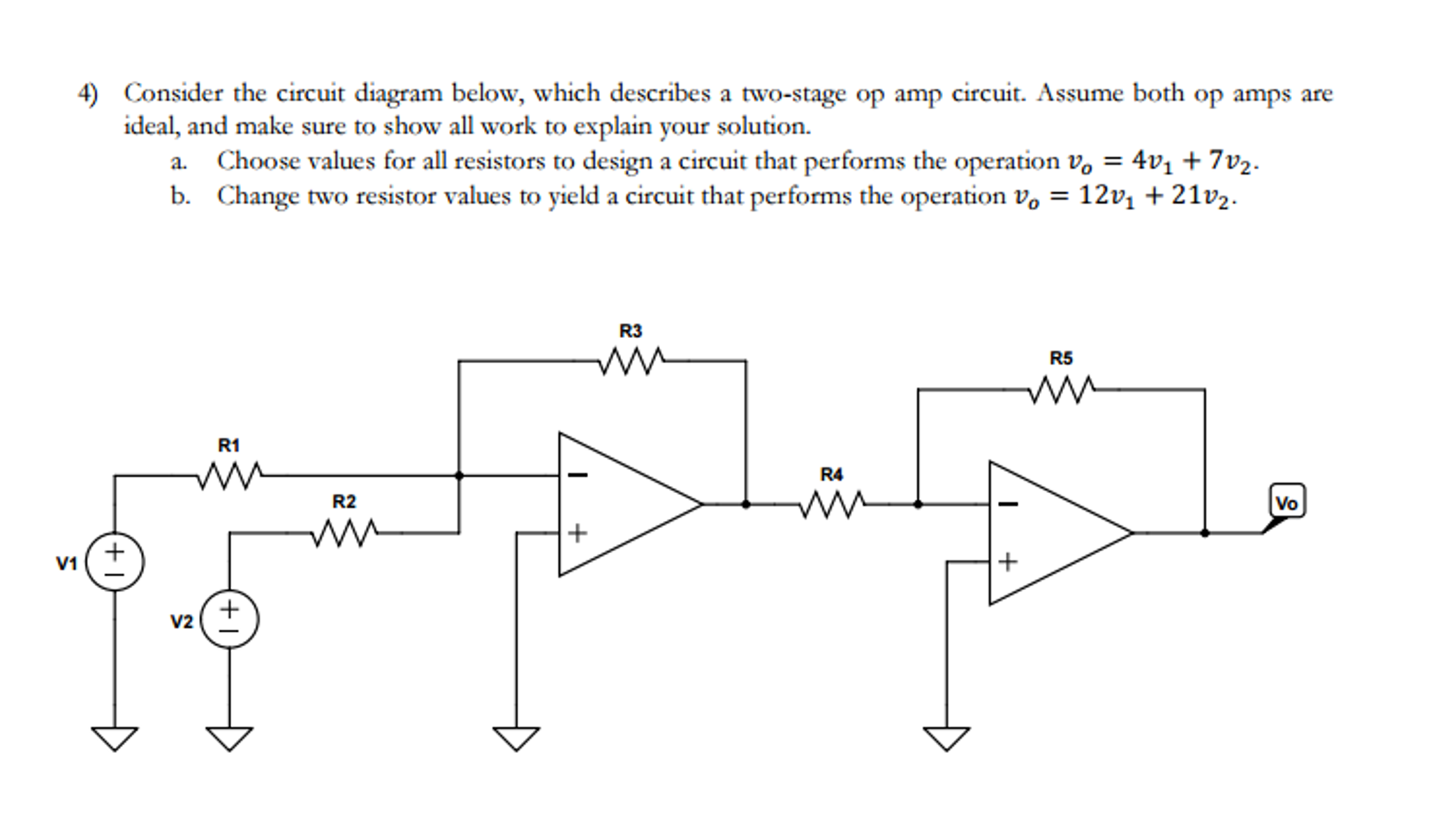 Solved: Consider The Circuit Diagram Below. ume The Op ... on