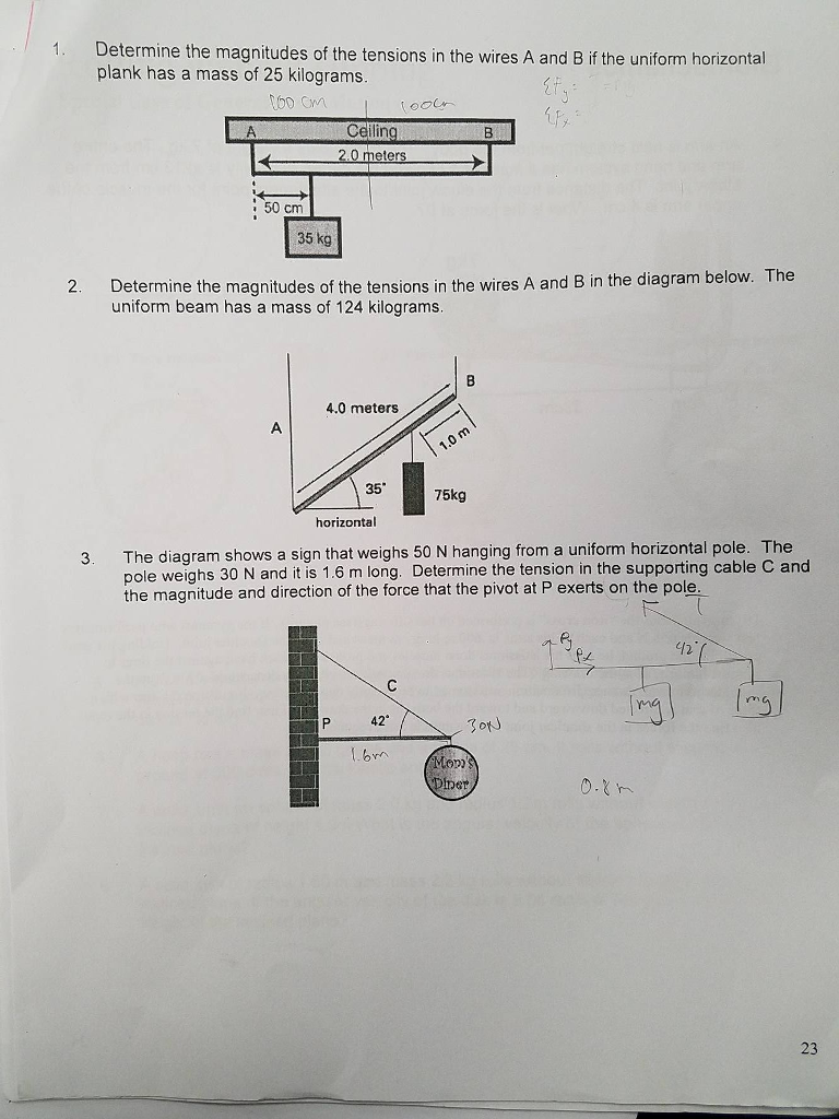 Solved 2 Determine The Magnitudes Of Tensions In Th Schematic Wiring 3 Wire Cable Wires A And B If