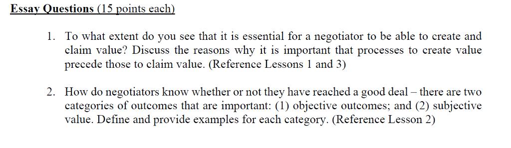 claim of value essay topics