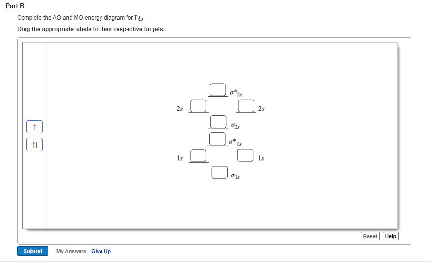 Solved Part B Complete The Ao And Mo Energy Diagram For L
