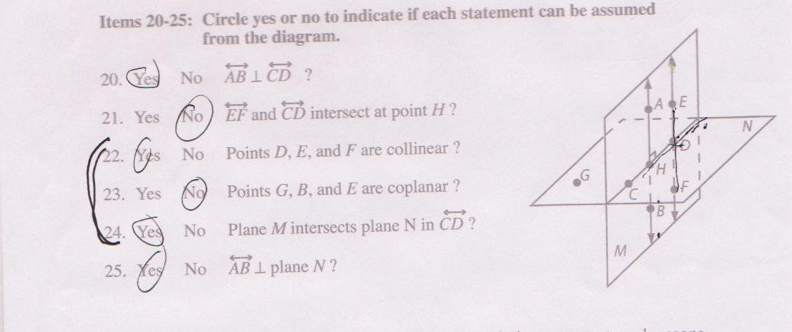 Solved Circle Yes Or No To Indicate If Each Statement Can