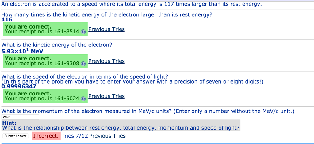 Solved: What Is The Momentum Of The Electron Measured In M