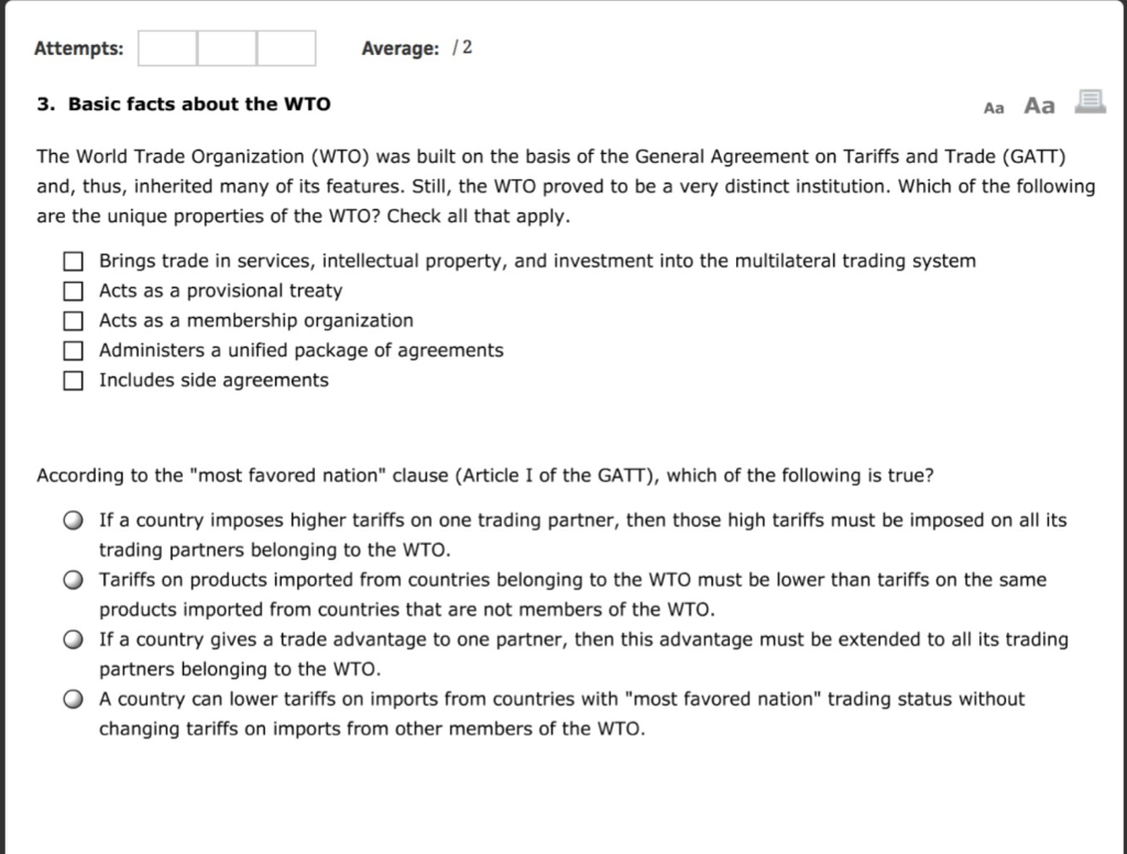Solved The Following Question Relates To The Wto Pleas