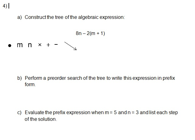 Construct The Tree Of The Algeic Expression: 8n... | Chegg.com on pre order food, pre order symbol, pre order process, contact form, pre order unity, pre order design, pre order button, pre order menu, pre order code, clothing form,