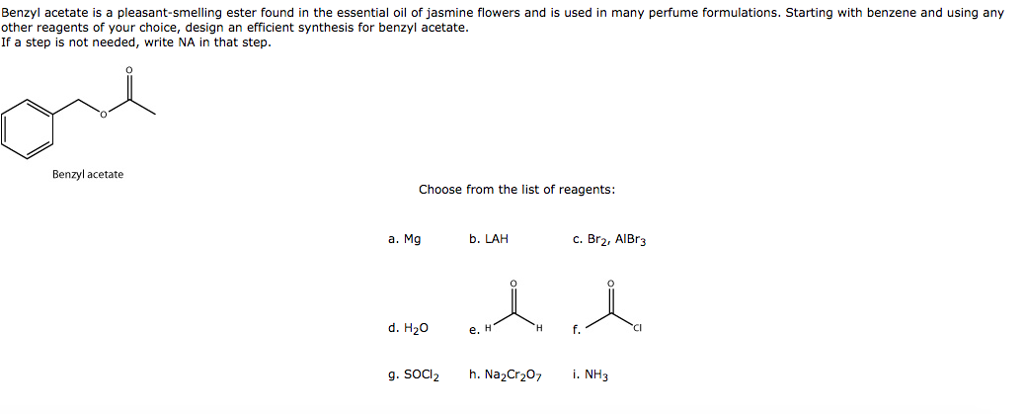 Solved Benzyl Acetate Is A Pleasant Smelling Ester Foun