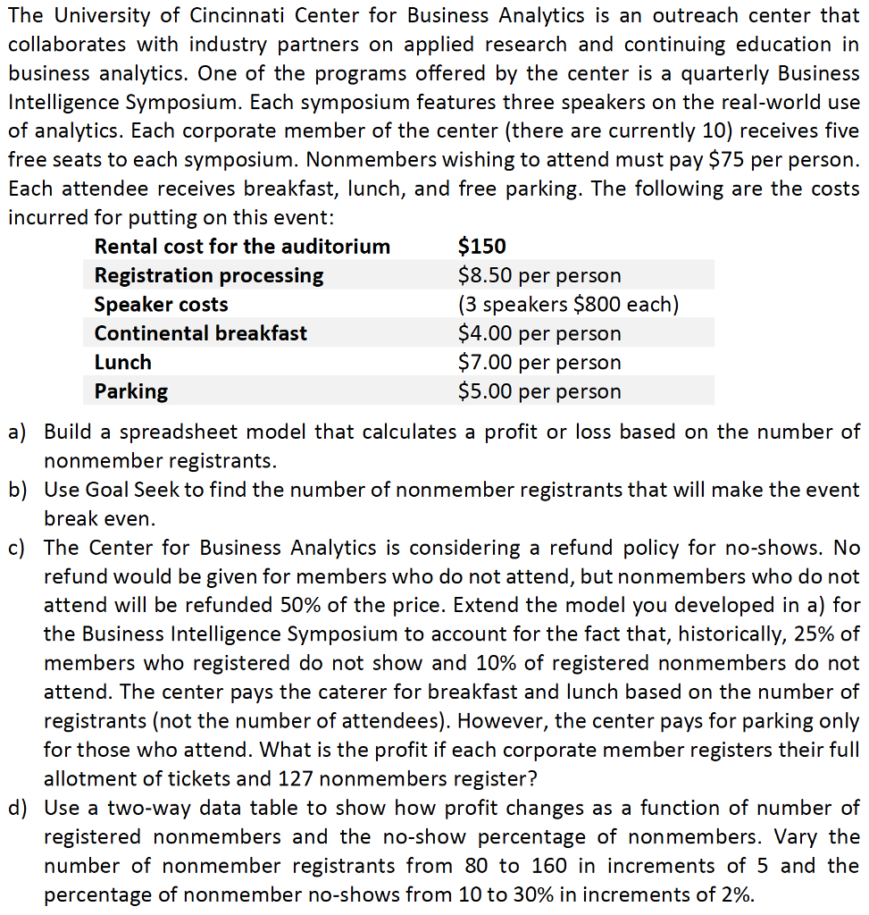 the university of cincinnati center for business analytics essay The farmer school of business offers one of the world's best undergraduate business educations with small class sizes and faculty who are focused on teaching we are consistently ranked among the nation's top undergraduate business programs for our commitment to our students' professional and personal growth and success.