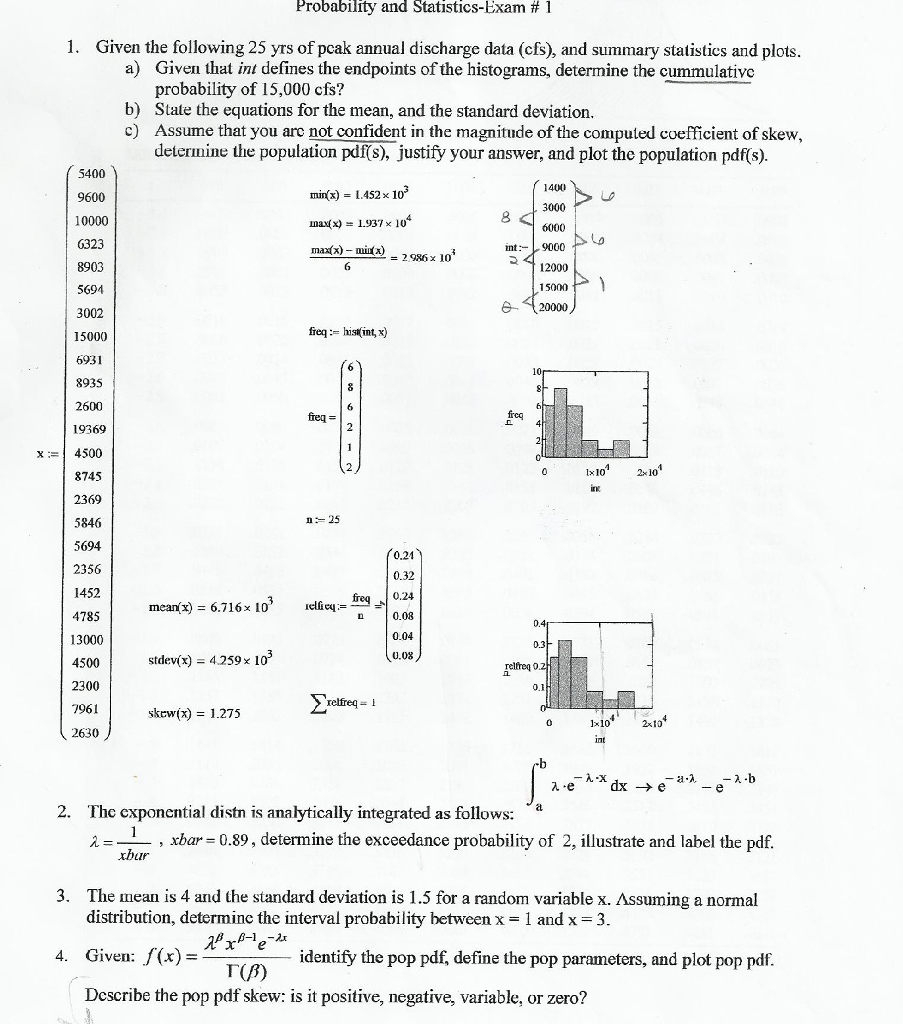 Statistics and probability archive february 04 2017 chegg probability and statistics exam 1 1 given the following 25 yrs of pcak annual fandeluxe Images