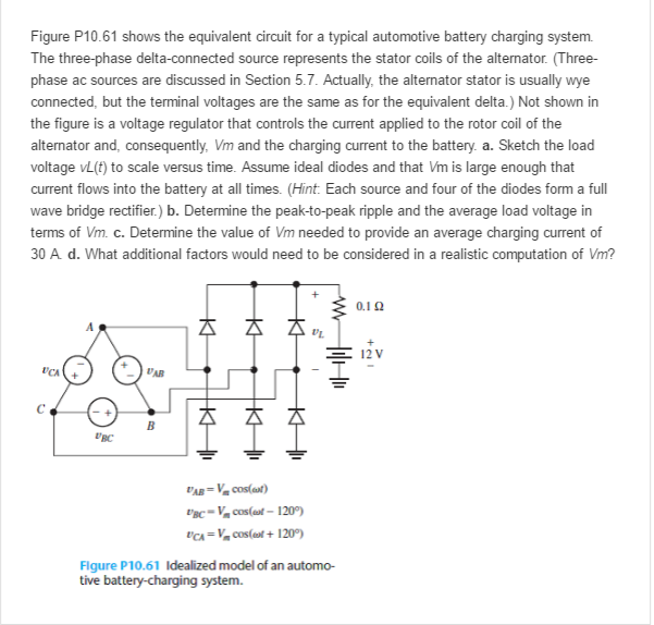 Solved: Figure P10.61 Shows The Equivalent Circuit For A T ... on