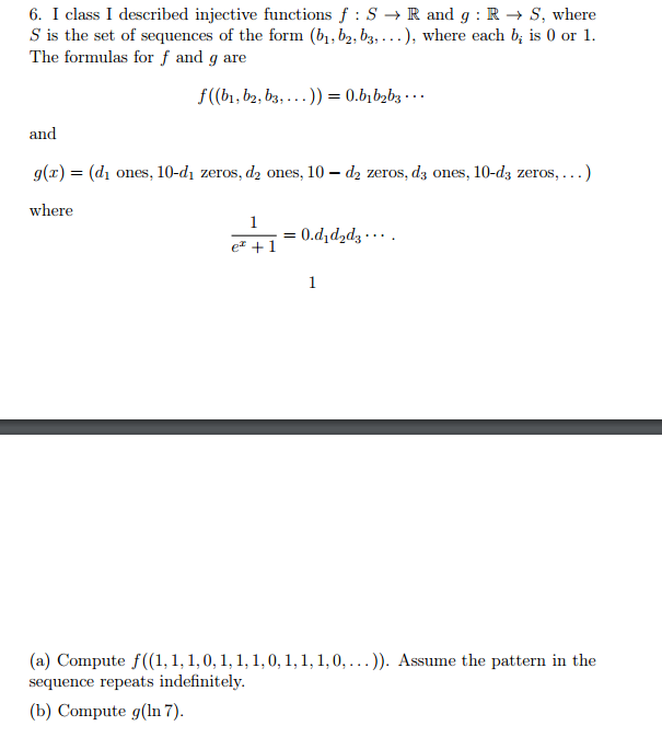 Solved I Class I Described Injective Functions F S Right
