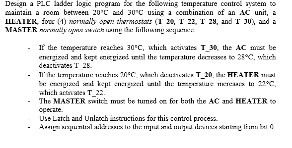 solved design a plc ladder logic program for the followin rh chegg com Electrical Ladder Diagram Symbols Understanding Ladder Diagrams