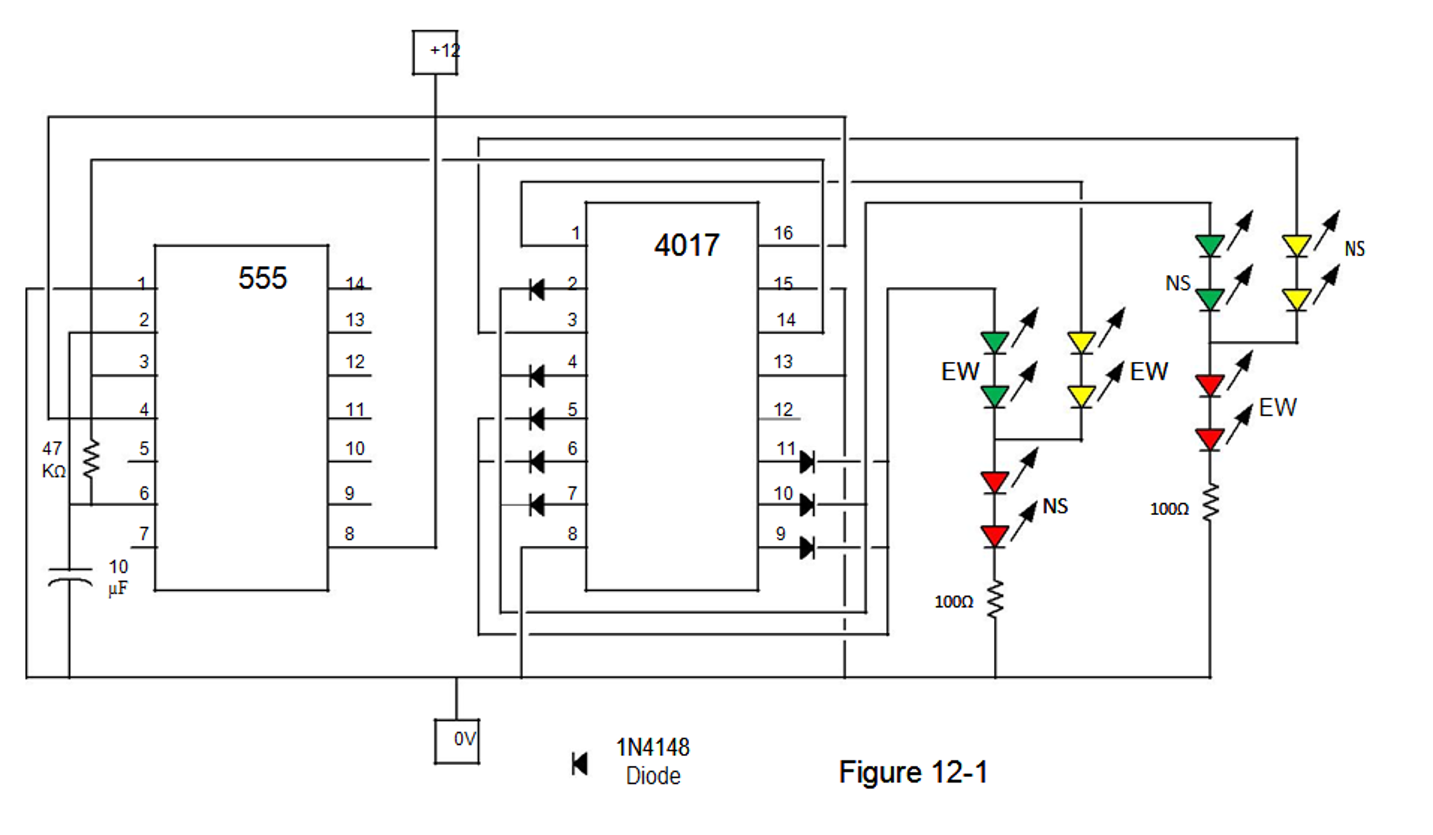 Not Sure How To Make The Circuit From First Pi 4017 Diagram Picture Of Figure 12 1 On Multisim Pin Configuration 555 Timer Is 2nd And 5 Stage