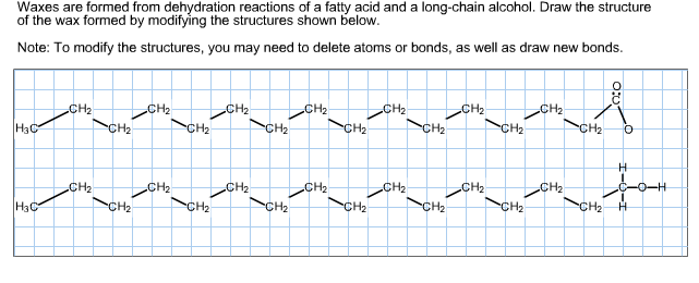Solved  Waxes Are Formed From Dehydration Reactions Of A F