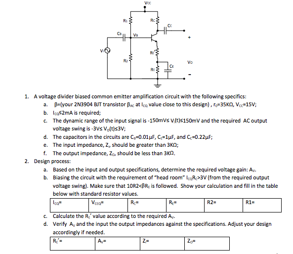 To Design A Voltage Divider Circuit To Provide An Output Voltage Vo 5