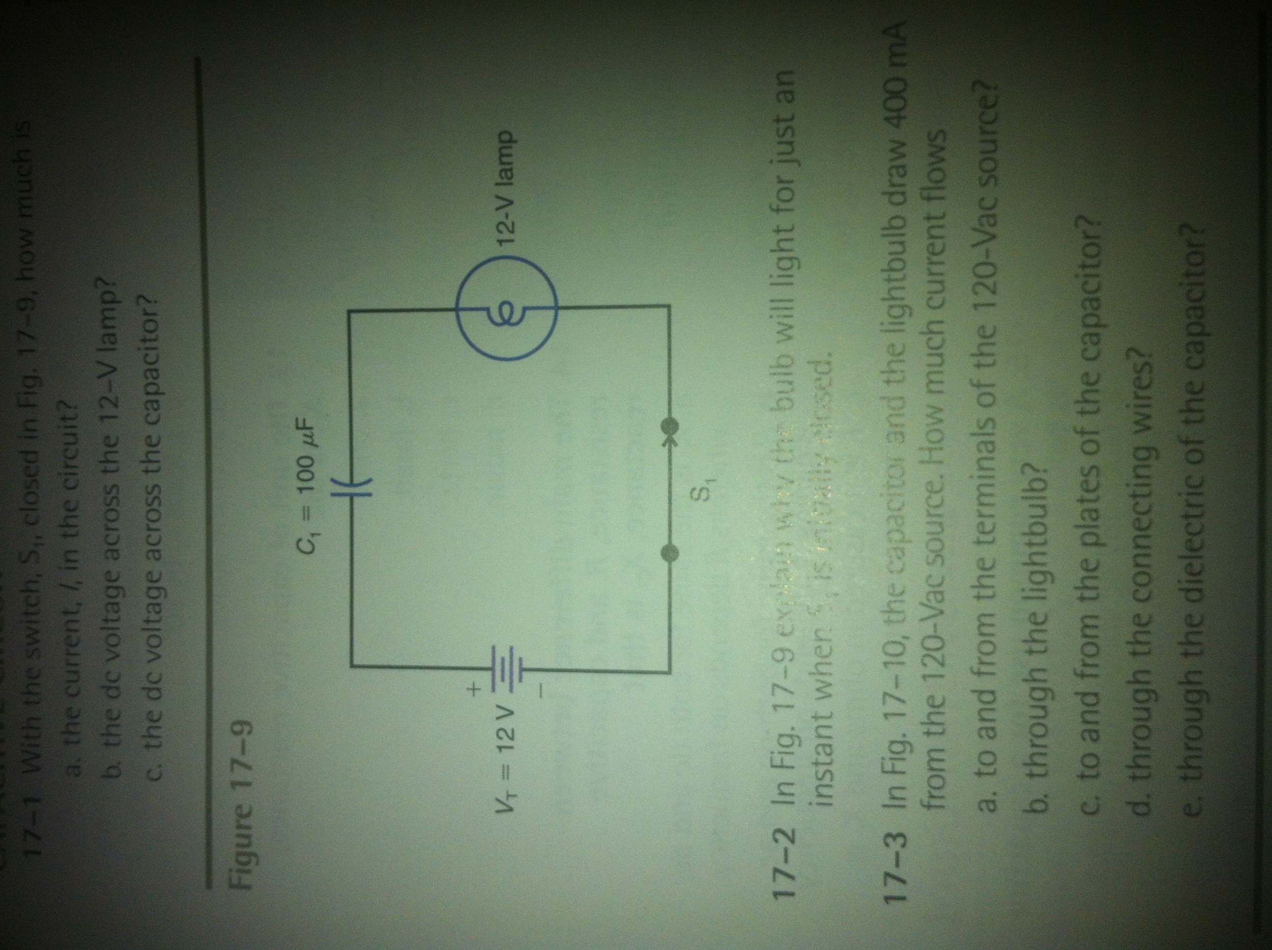 Solved Explain Why The Bulb Will Light For Just An Instan Is Connected In Circuit Shown Cheggcom 17 9