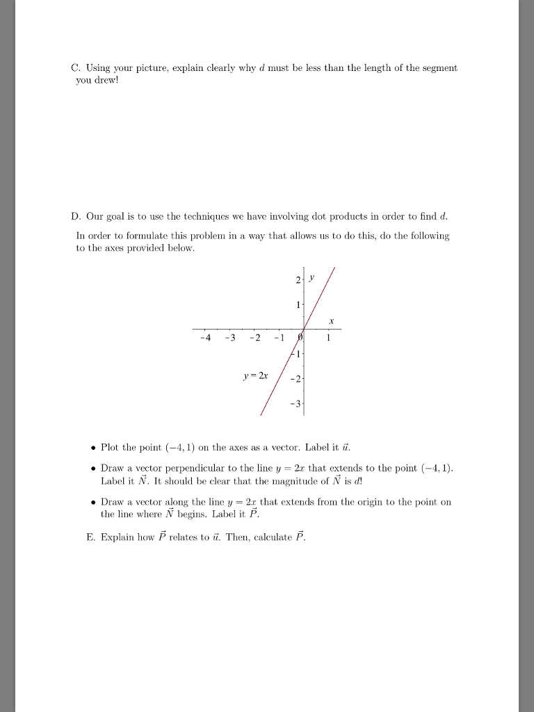 Problem 1: 5 Pts Distance Between A Point And A Line The Distance, D