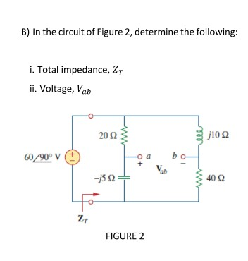In the circuit of Figure 2, determine the followin