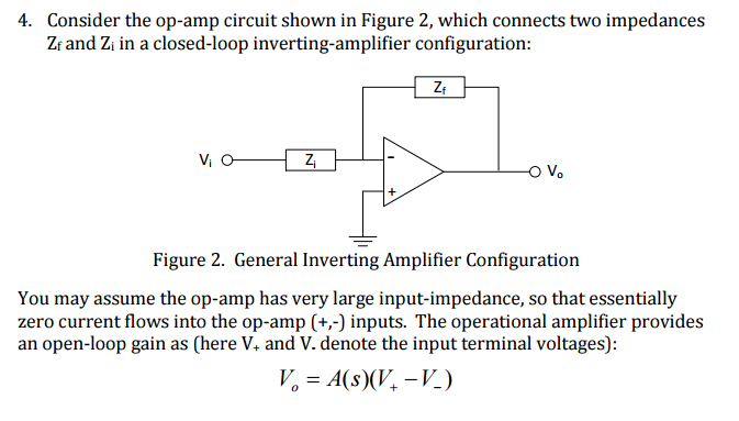 solved 4 consider the op amp circuit shown in figure 2 rh chegg com