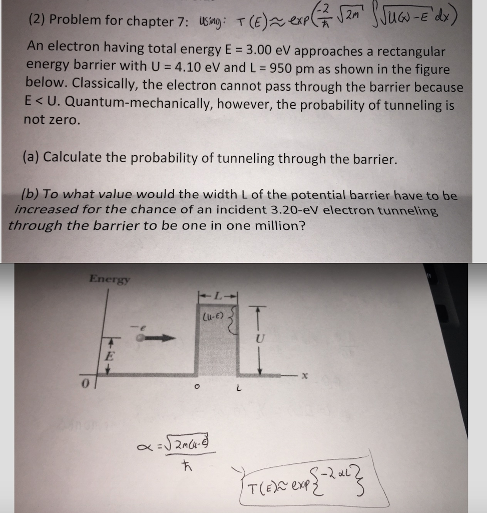 2 Problem for chapter 7 using T