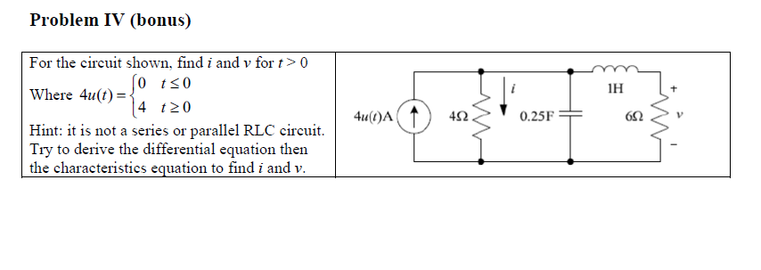 solved problem iv bonus for the circuit shown find i a rh chegg com