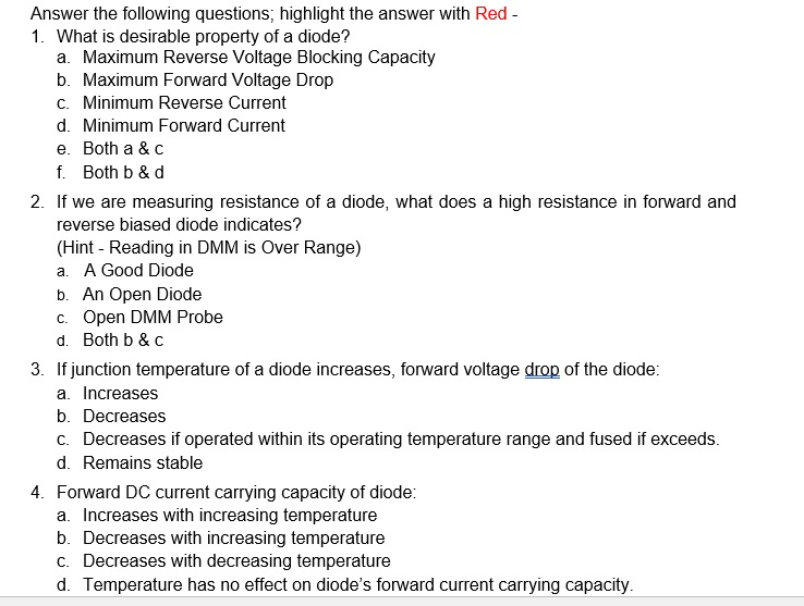 Solved: Answer The Following Questions, Highlight The Answ ...