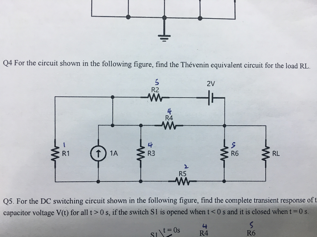 Solved: Q4 For The Circuit Shown In The Following Figure ...