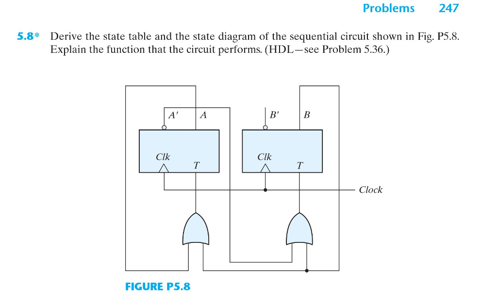 solved digital systems toggle flip flops state diagram an