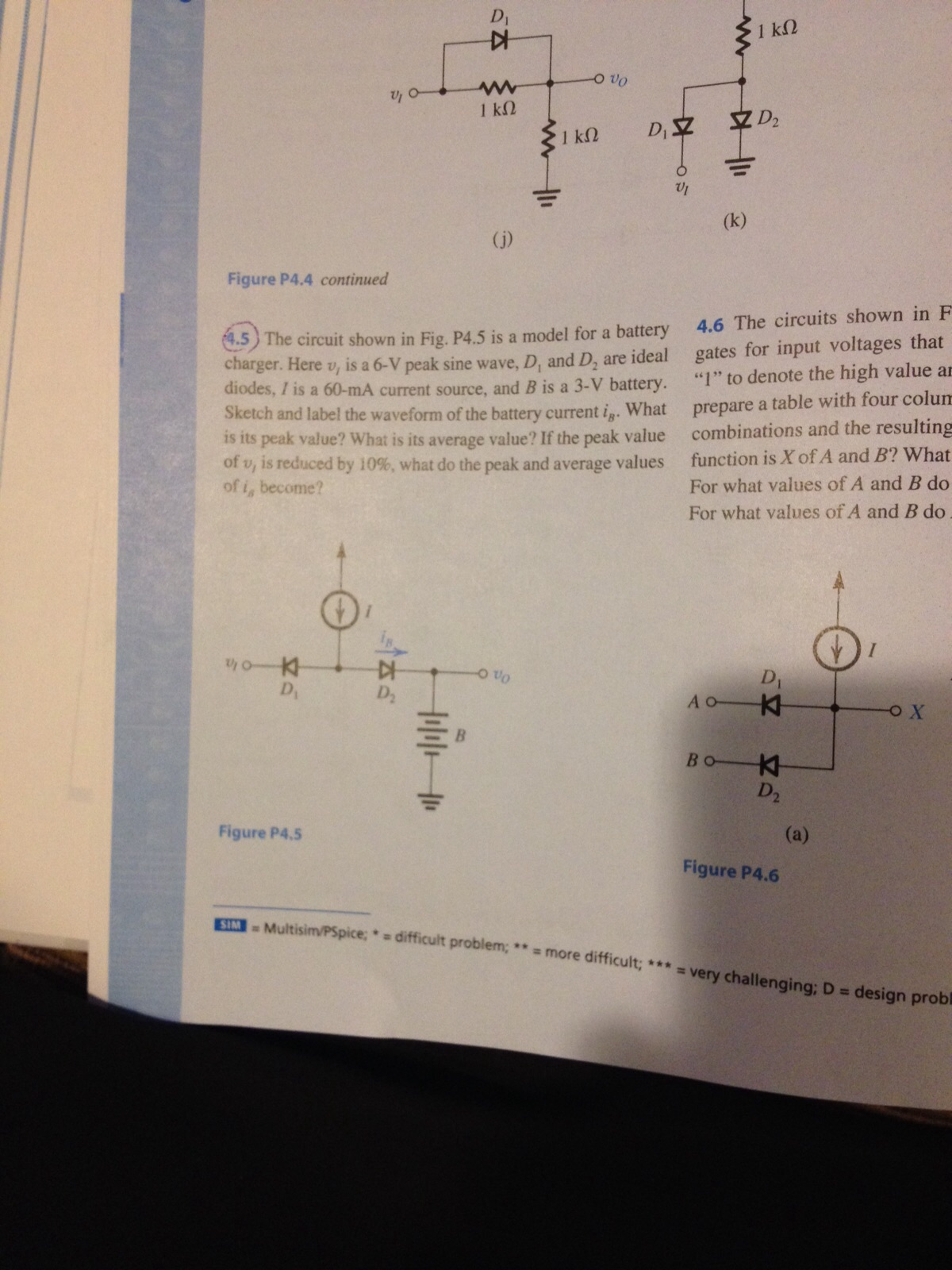solved 4 5 the circuit shown in fig p4 5 is a model for rh chegg com