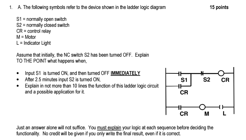 ladder logic diagram symbols solved a the following symbols refer to the device shown  solved a the following symbols refer