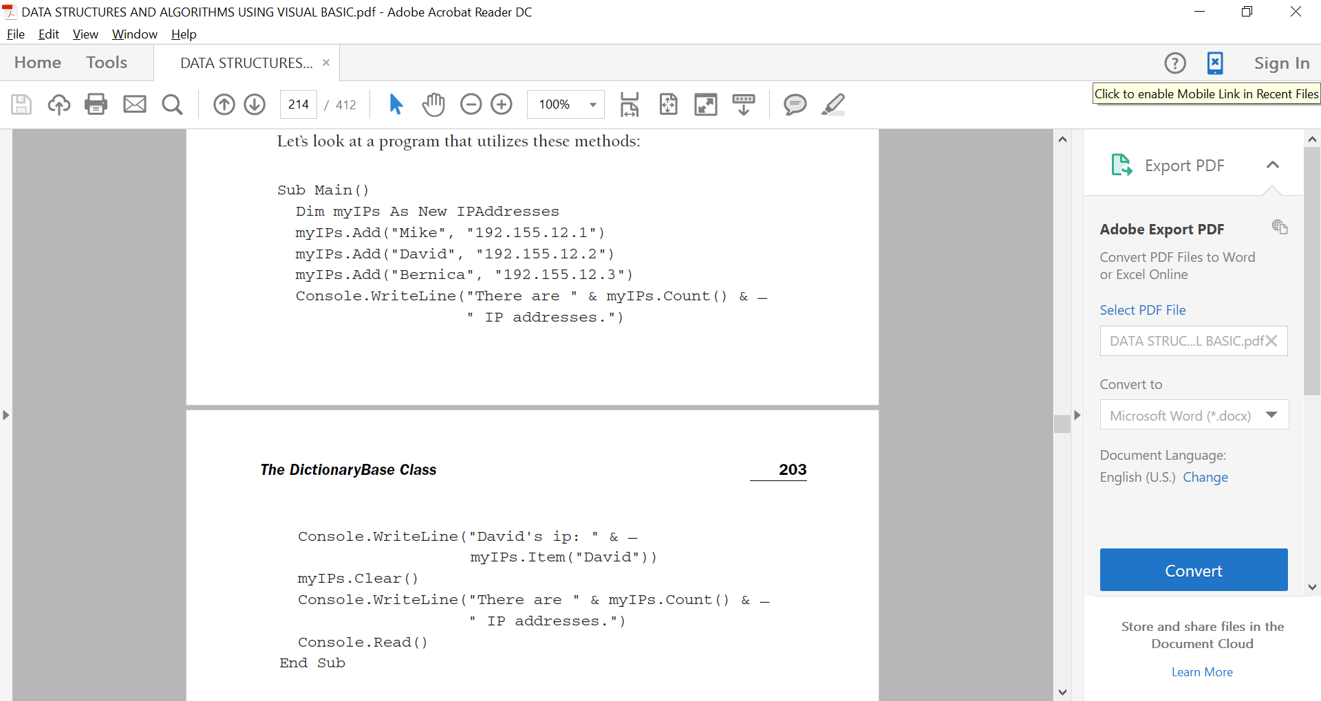 Should Be In Vb net Using The Implementation Of Th    | Chegg com