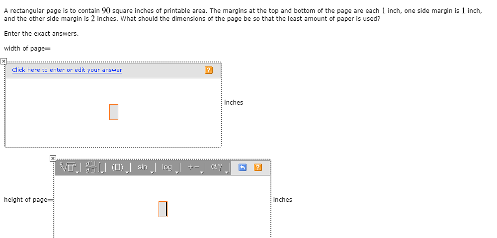 picture relating to Printable Margins titled Settled: A Rectangular Website page Is In the direction of Incorporate 90 Sq. Inches