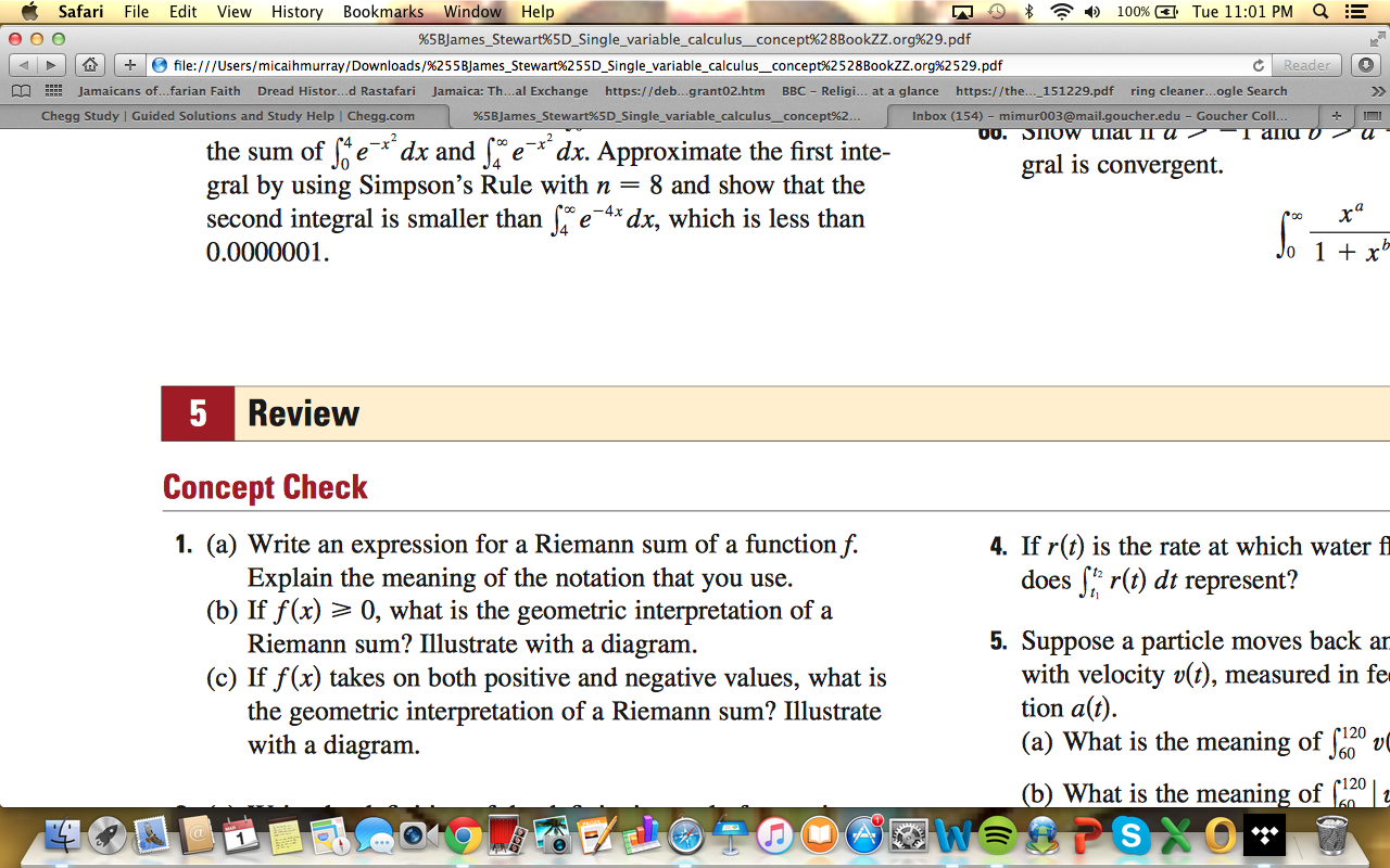 Solved Write An Expression For A Riemann Sum Of A Functio