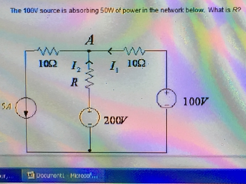 The 100W source is absorbing 50W of