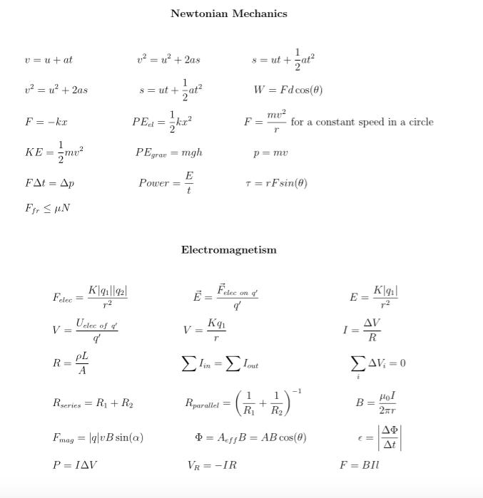 solved annotate the formula sheet write each symbol what