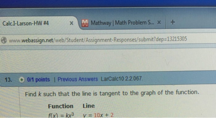Solved: Calcl. Larson-HW #4 、bhMathway[Math Problems.. X ...