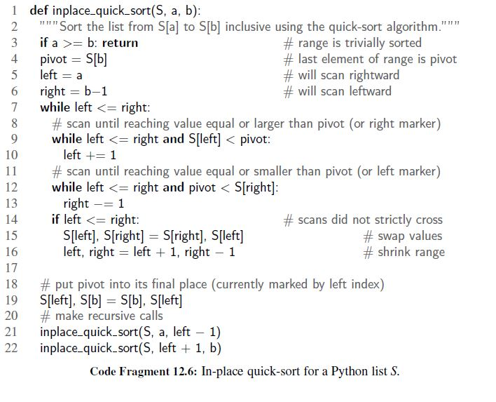 quick sort in python