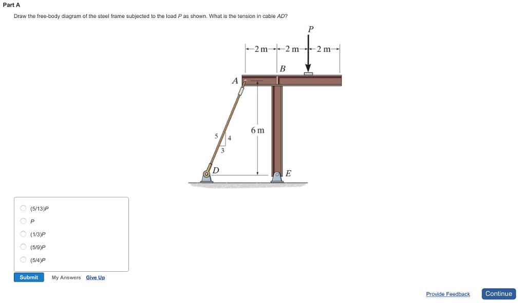 Solved: Part A Draw The Free-body Diagram Of The Steel Fra ...