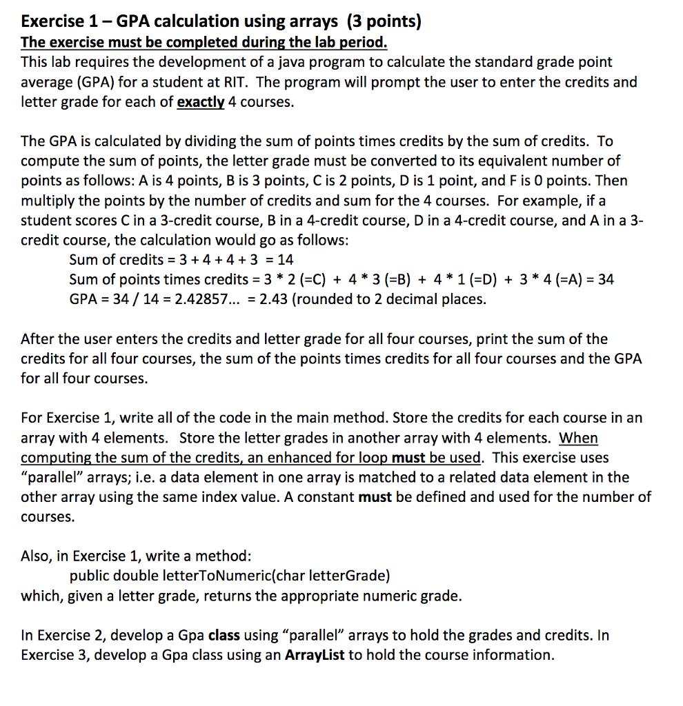 Solved: Program : GpaTestEx2 java Coding: Import Java util