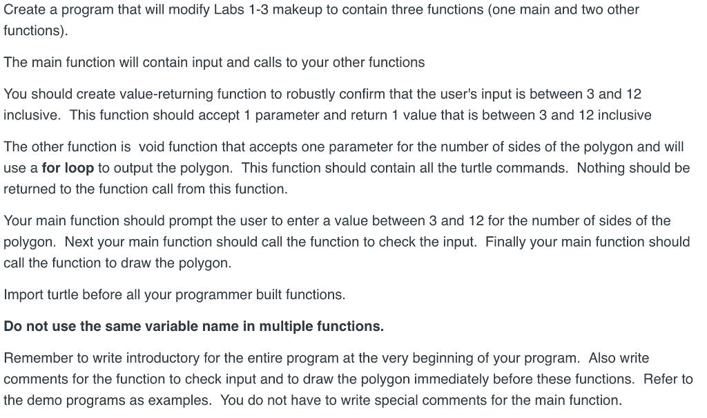 Solved: Below It The Code For The Labs 1-3 Makeup  Please
