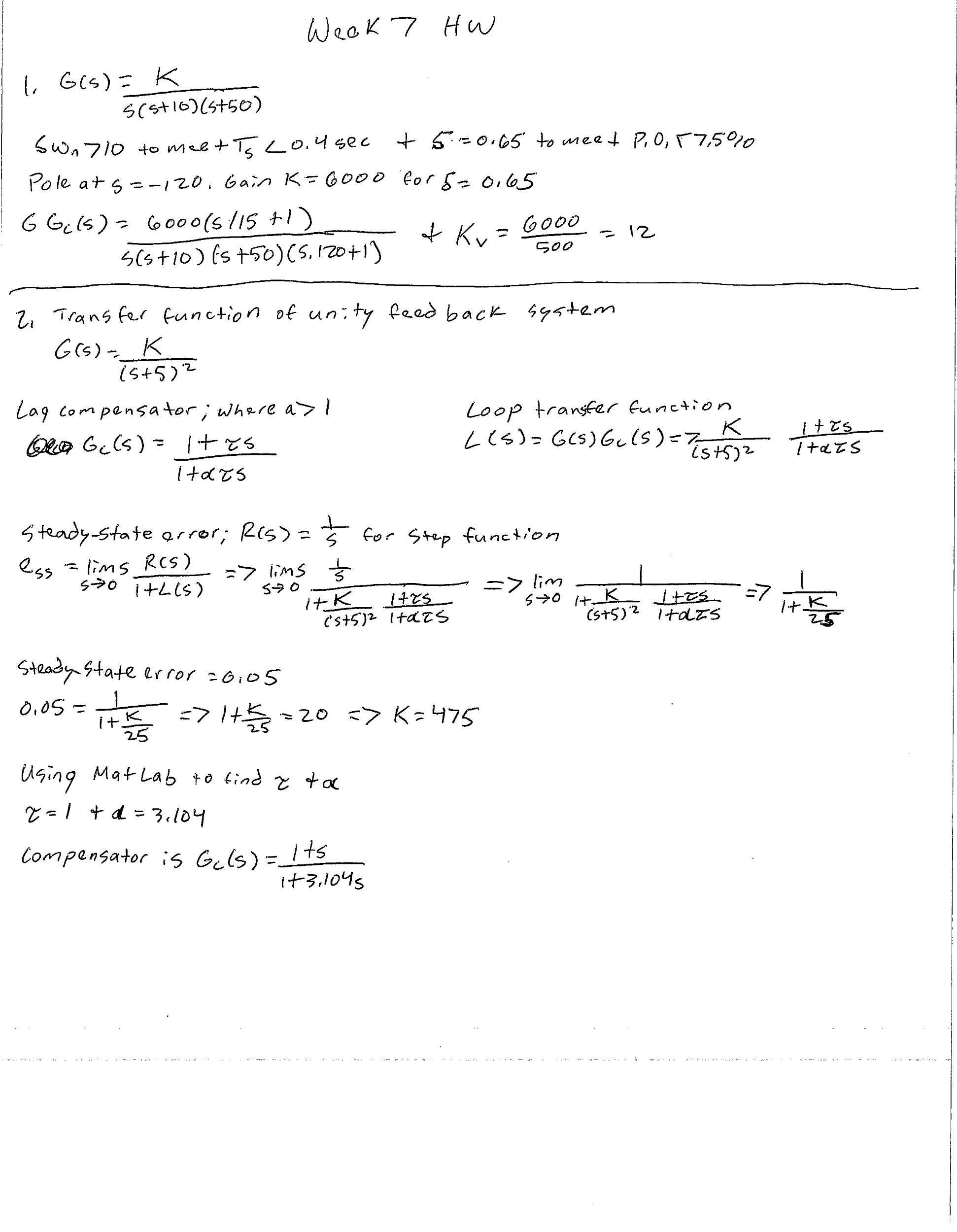 Solved: Need Matlab Code For The Root Locus For Problem (1