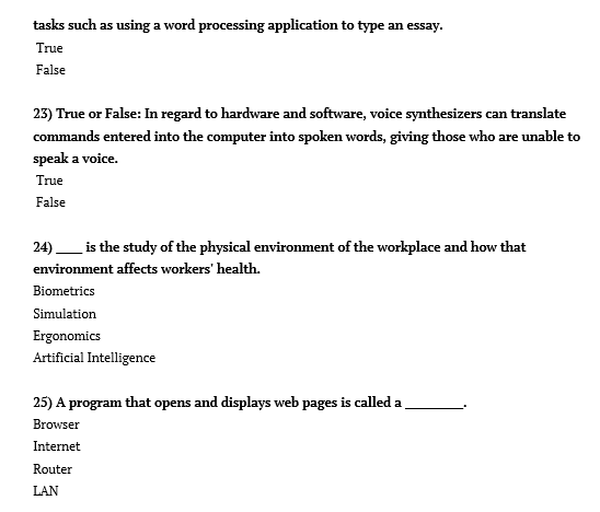 Solved Computer Concepts Review Questions 1 The Screen D Chegg Com