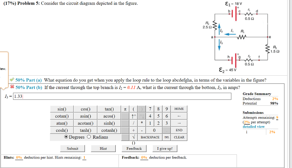 Prime Solved 17 Problem 5 Consider The Circuit Diagram Depi Wiring Database Aboleterrageneticorg