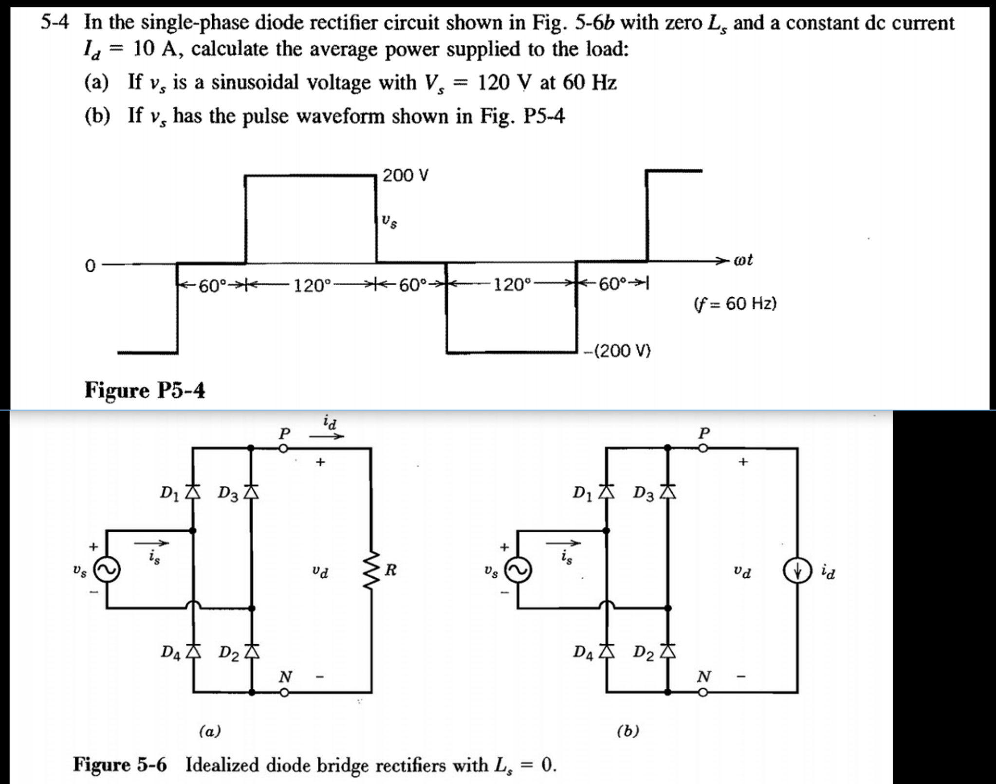 Solved In The Single Phase Diode Rectifier Circuit Shown Wiring Diagram For