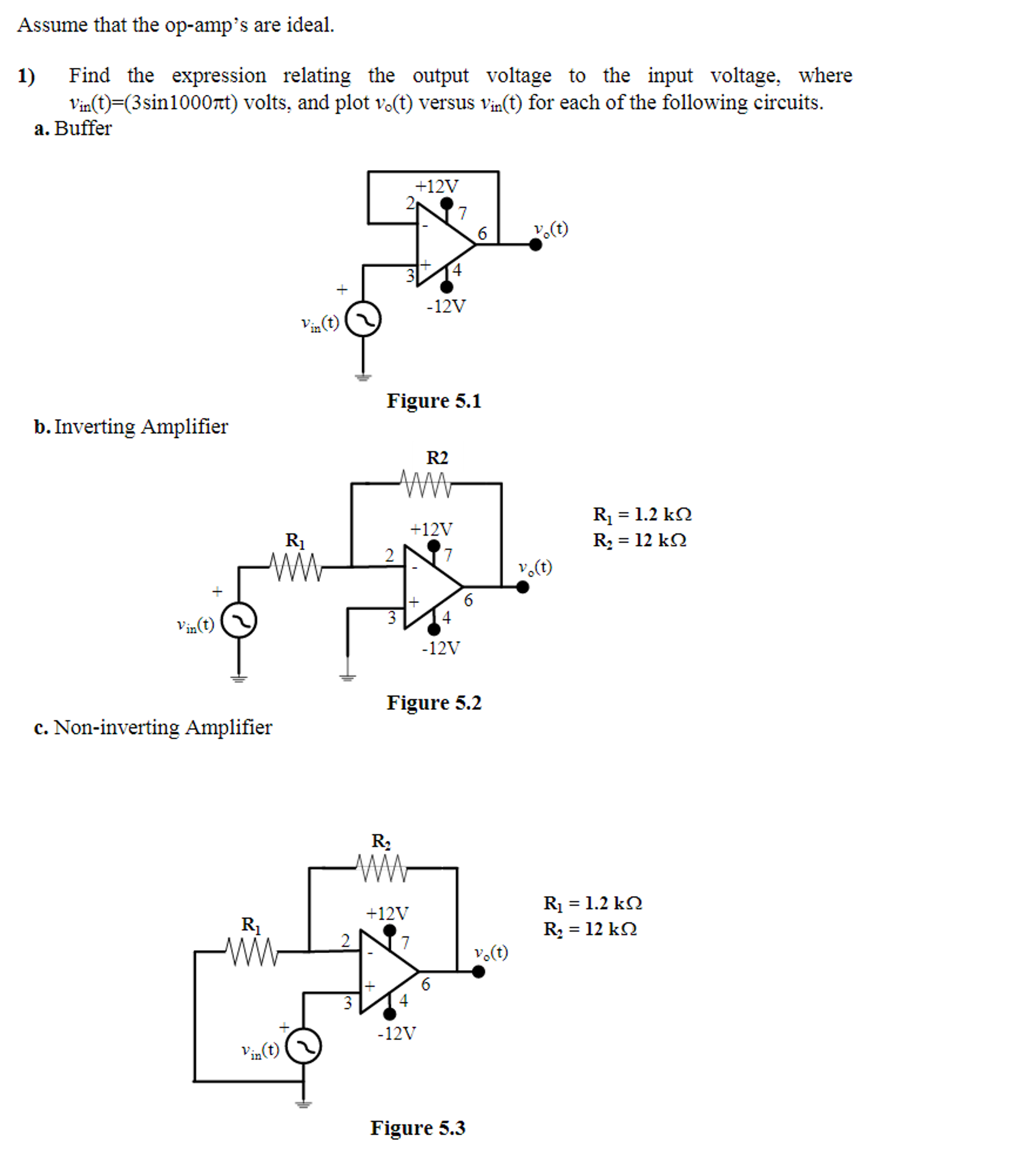 Solved Assume That The Op Amps Are Ideal Find Expre Voltage Opamp Amplifier Expr