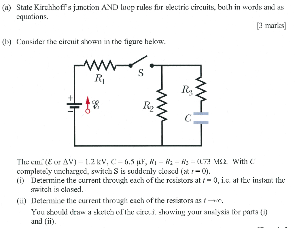 Electric Circuits Rules Best Secret Wiring Diagram Some Parallel Have Switches In As The Circuit Shown Solved A State Kirchhoff S Junction And Loop For Rh Chegg Com Series Sixth