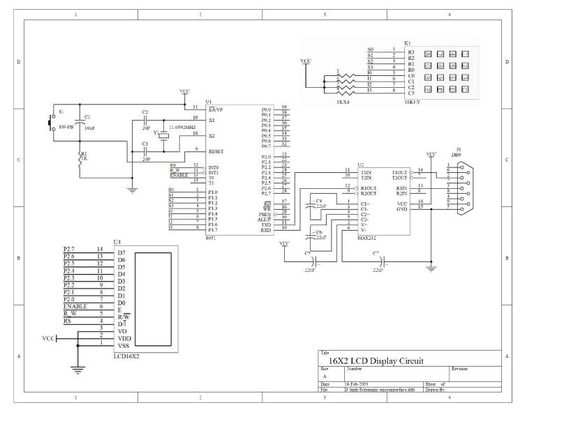 Solved: KX4 1 8392MHZ P2 7 16X2 LCD Display Circuit | Chegg com