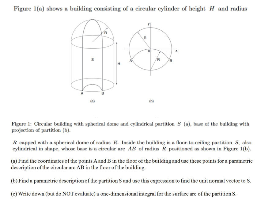 5177257b005 Figure 1(a) shows a building consisting of a circular cylinder of height H