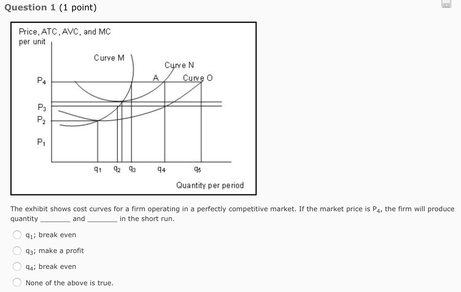 the graph that accompanies this question illustrates two demand curves for a firm operating in a dif Key takeaways key points the marginal cost is the cost of producing one more unit of a good marginal cost includes all of the costs that vary with the level of production.